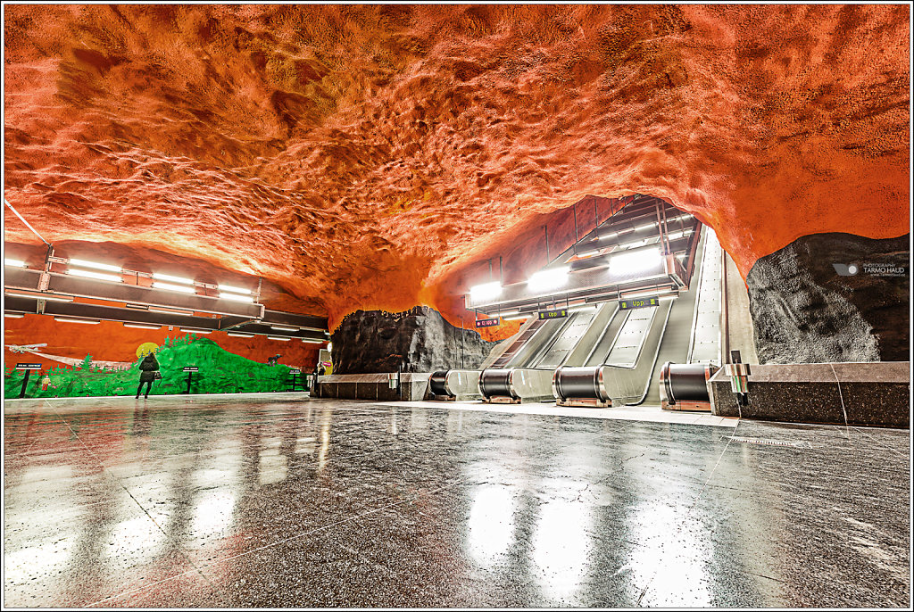 Tunnelbana station in Stockholm